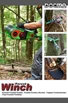 """L'immagine può contenere: spazio all'aperto, il seguente testo """"DOCMA #00 VF155 Winch Forest Verricelli Forestali Portatili Portable Forestry Winches -Tragbare Forstseilwinden Treuil Forestier Portables"""""""