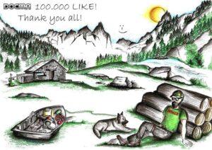 """100.000 """"MI PIACE"""", grazie a tutti!  100.000 """"LIKE"""", thank you all!  100.000 """"GEFÄLLT MIR"""", danke schön!  100.000 """"J'A..."""