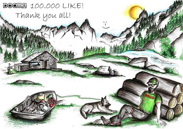 """100.000 """"MI PIACE"""", grazie a tutti!  100.000 """"LIKE"""", thank you all!  100.000 """"GEFÄLLT MIR"""", danke schön!  100.000"""