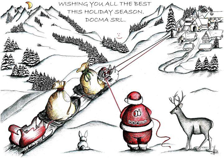 Auguri di un sereno Natale e un prospero Anno Nuovo.