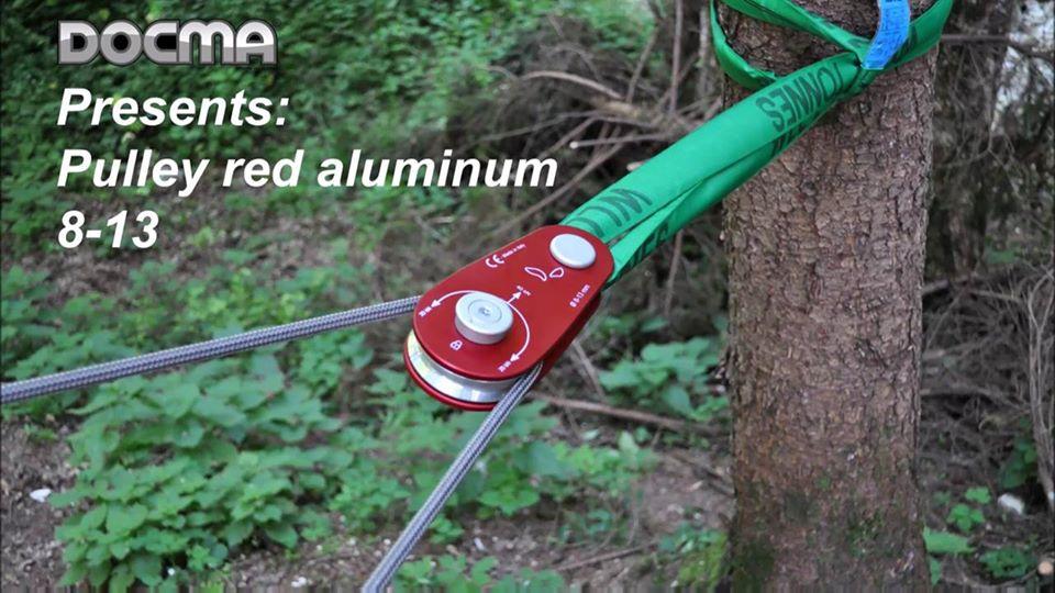 Carrucola rossa in alluminio 8-13 - Red pulley (aluminium) 8-13