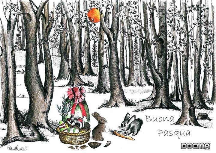 Happy Easter - Happy Easter - Frohe Ostern - Joyeuses Pâques - Feliz Pascua - Boa Pascoa.  ·