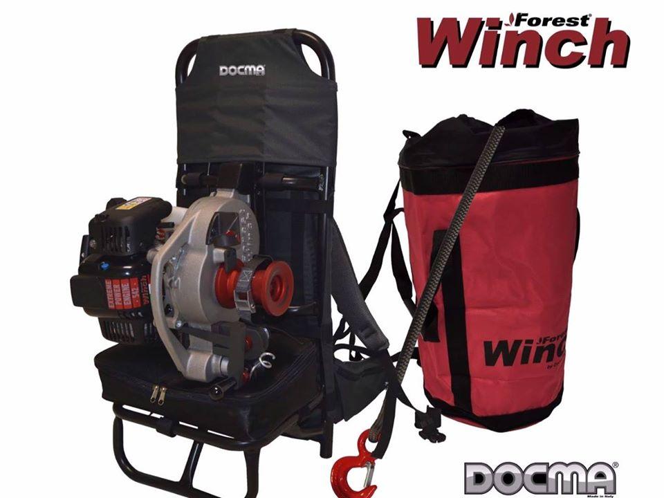 Neuer professioneller Rucksack für Winden VF80 BOLT und VF105 RED IRON - Docma Made in Italy.