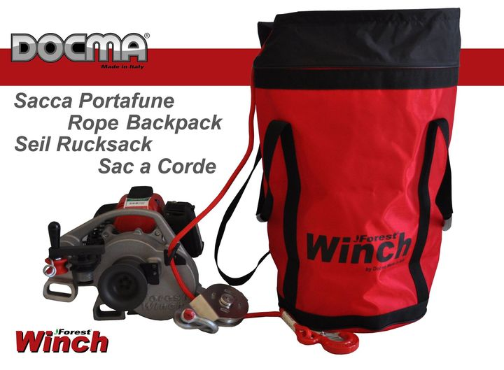 Nuova sacca portafune ForestWinch, comoda e capiente - New rope backpack ForestWinch, comfortable and roomy - Neu Fore...