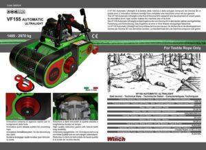VF155 Automatic Ultralight con fune tessile Dy-Forest ad alte prestazioni - Docma Made in Italy.