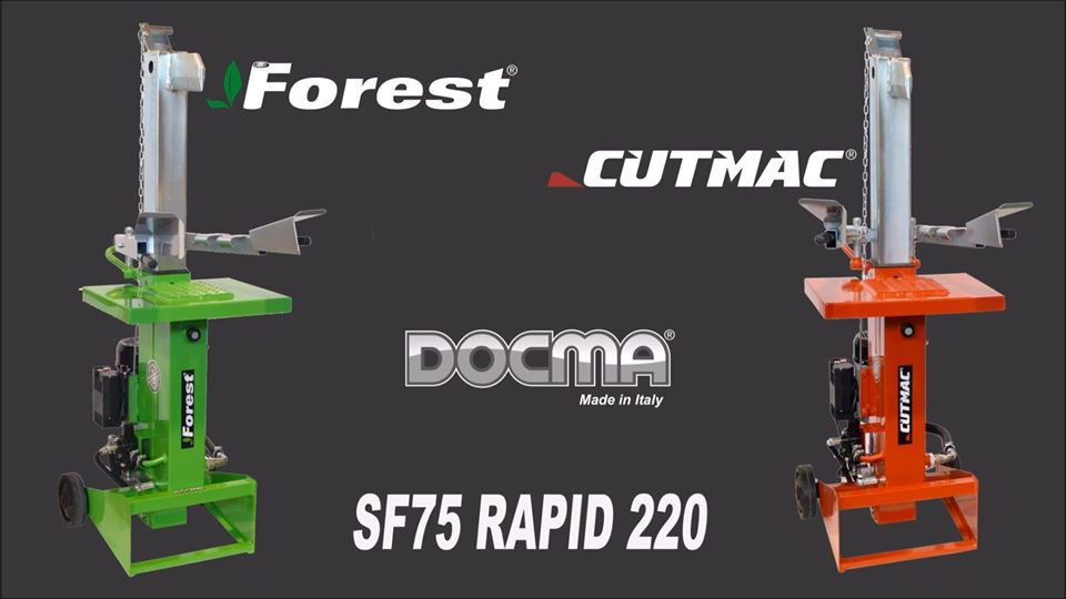 Wood splitter SF75 Rapid 220 - All-Italian quality - Write to info@docma.it to find the nearest dealer.  ...